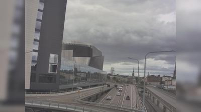 Stockholm: Tegelbacken N (Kameran är placerad på Klarastrandsleden i höjd med Klarabergsviadukten och är riktad mot Nynäshamn)