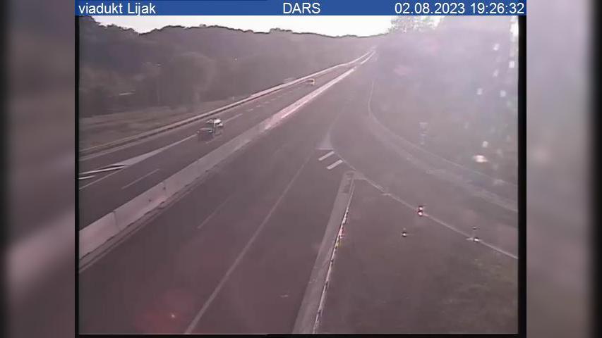 Webkamera Vogrsko: H4, Podnanos − Vrtojba, viadukt Lijak