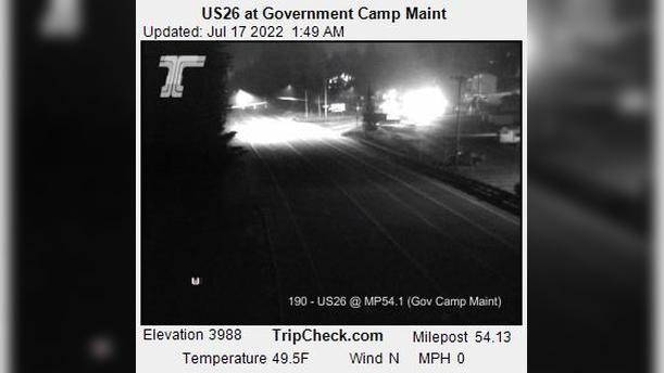 Webcam Government Camp: US26 at − Maint
