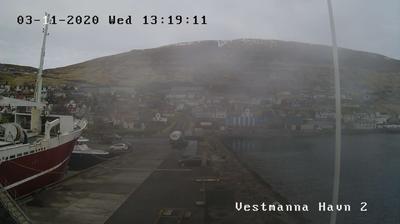 Daylight webcam view from Nesið: Vestmanna, Denmark