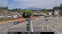 Pitt Meadows > North: , Lougheed Hwy looking north onto Dewdney Trunk Rd - Jour