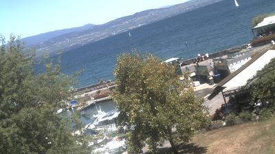 Daylight webcam view from Yvoire: Port d'Yvoire − Lake Geneva (Lake Léman)