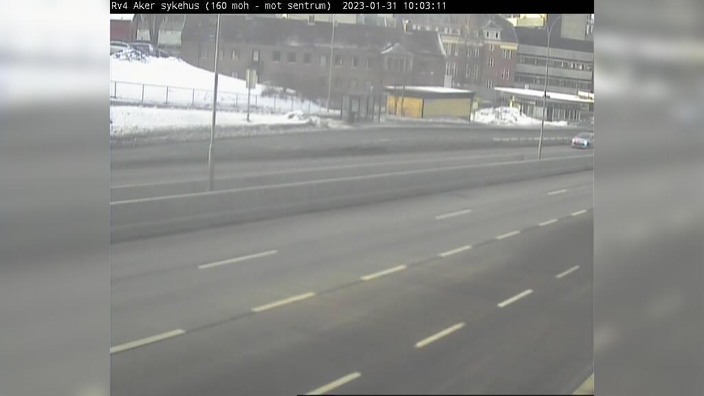Webcam Refstad: R4 Aker sykehus (Retning sør)