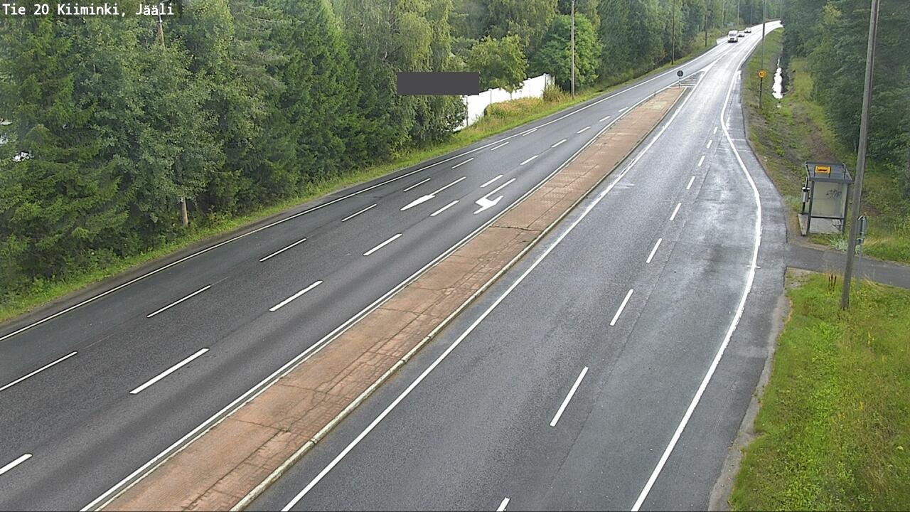Webcam Oulu: Tie 20 Kiiminki_Jääli − Kuusamoon