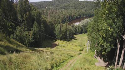 Daylight webcam view from Kalnabeites: Sigulda − Recreation Complex Kakitis