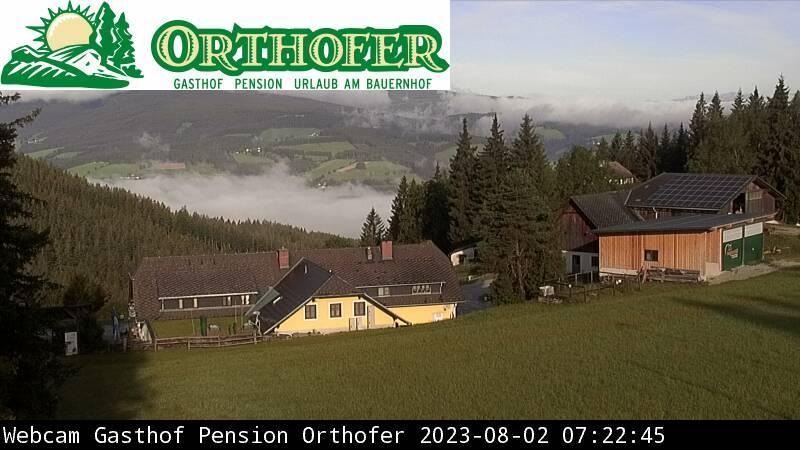 Webkamera Filzmoos: Sankt Jakob im Walde − Landgasthof Ortho