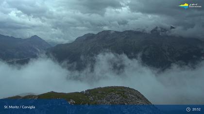 Sankt Moritz: Corviglia, Blick Richtung St Moritzersee