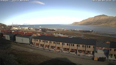 Daylight webcam view from Longyearbyen › North: Panorama
