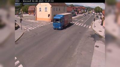 Vista de cámara web de luz diurna desde Miklavž na Dravskem Polju: R2 454, Miklavž − Hajdina, Miklavž
