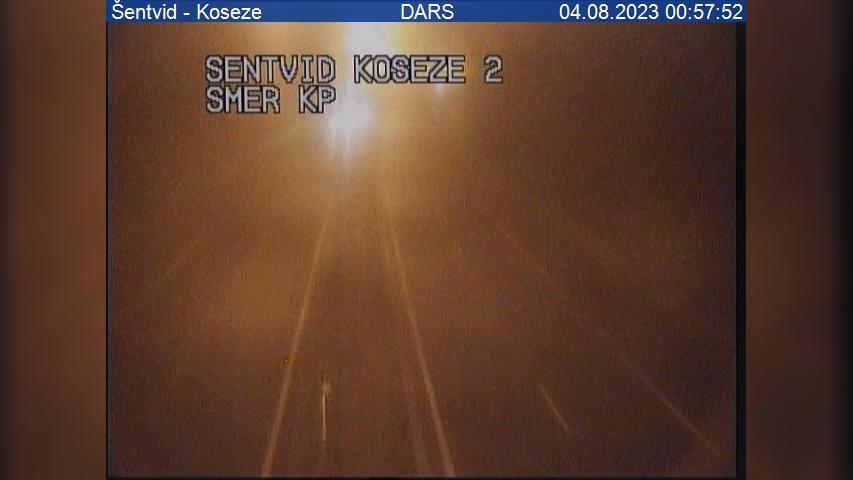 Webcam Koseze: A2/E61, Karavanke − odsek Šentvid