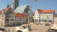 Freising: Marienplatz - Rathaus - Asamgebäude - Dom - Dia