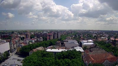 Vue webcam de jour à partir de Subotica › South East: Muzička škola − Hotel