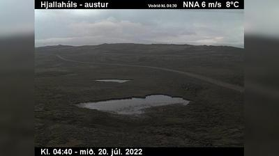 Current or last view from Reykholar: Gemlufallsheiði