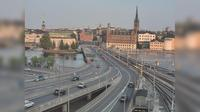 Stockholm: Tegelbacken S (Kameran är placerad på Centralbron i höjd med Tegelbacken och är riktad mot Nynäshamn) - Actual