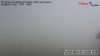 Gemeinde Sankt Anton am Arlberg: St. Anton am Arlberg - Galzig - Blick nach Osten - Dia
