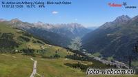 Sankt Anton am Arlberg: St. Anton am Arlberg - Galzig - Blick nach Osten - Overdag