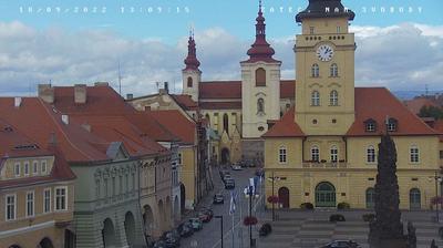 Vista de cámara web de luz diurna desde Žatec: Zatec