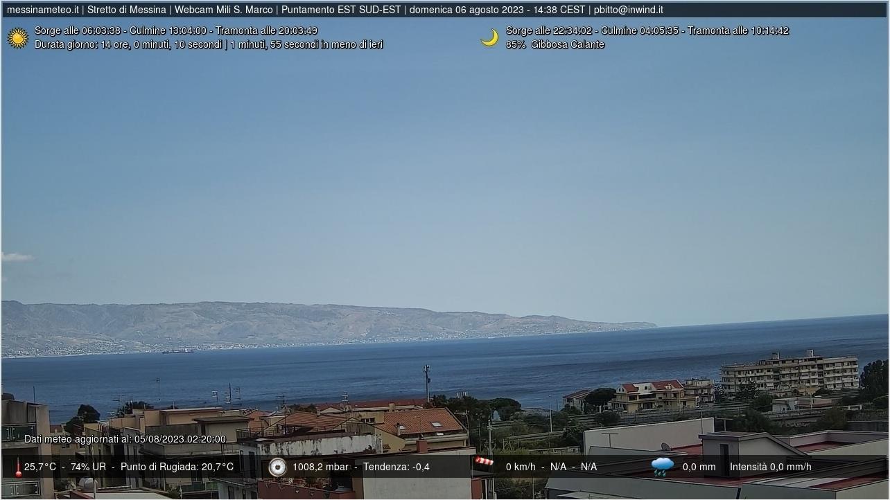 Webcam Mili Marina: Stretto di Messina