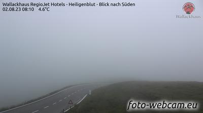 Vista actual o última desde Winkl: Berggasthof Wallackhaus − Heiligenblut − Blick nach Süden