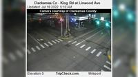 Milwaukie: Clackamas Co - King Rd at Linwood Ave - Jour