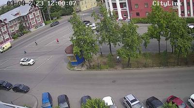 Vista de cámara web de luz diurna desde Petrozavodsk: Перекресток Гоголя и Красноармейской
