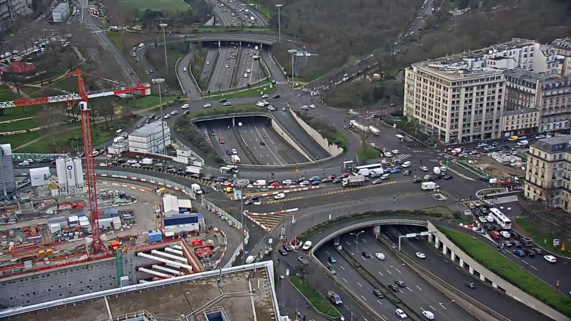 Webcam Neuilly-sur-Seine: Paris-Porte Maillot vers Porte