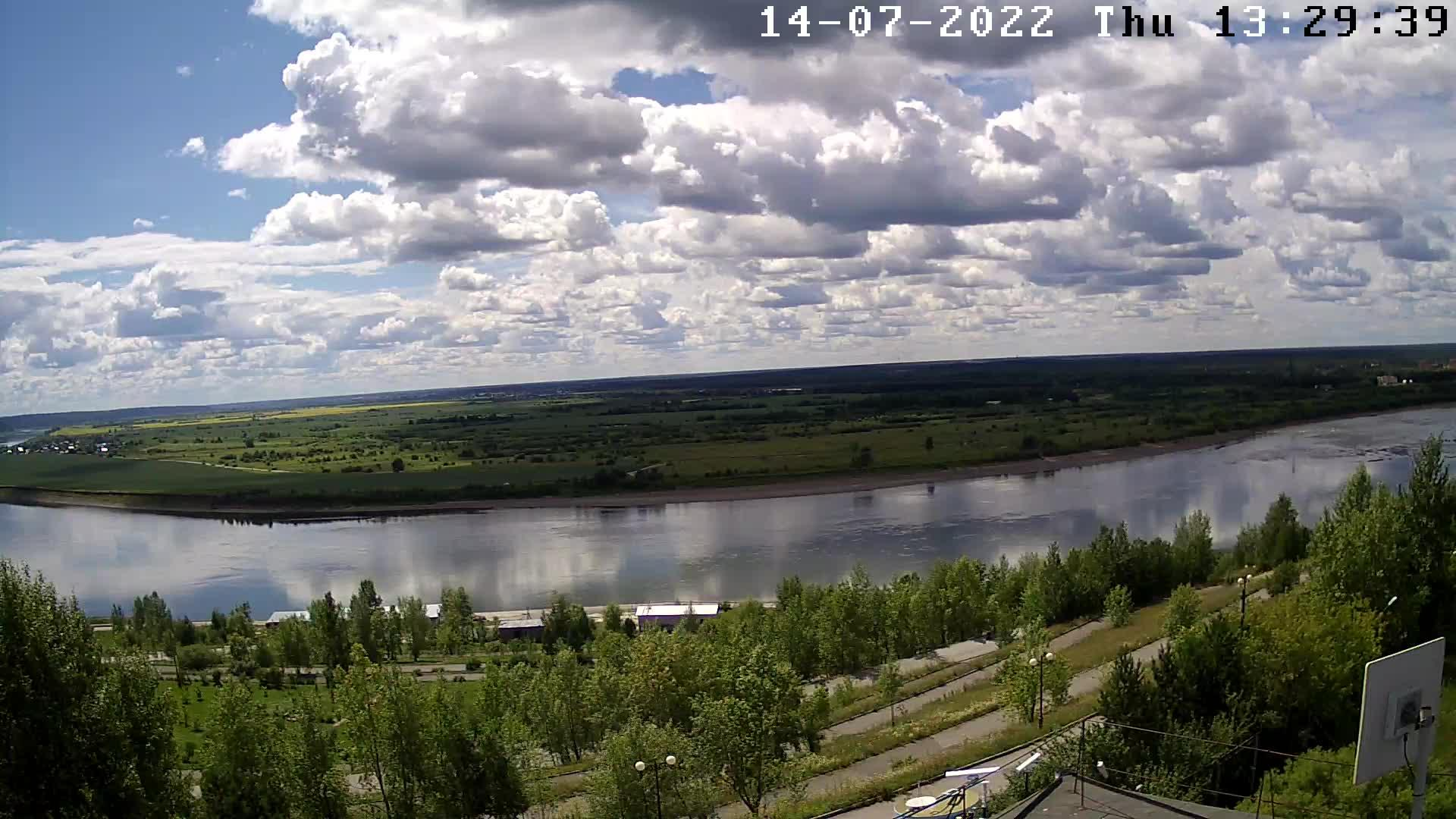 Webcam Tomsk: Трансляция реки Томь − ул. Вершинина,