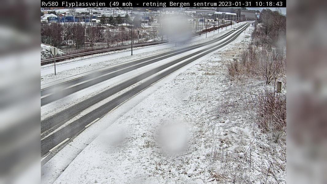Webcam Kokstad: R580 Flyplassveien (ca. 400 m fra Fleslan