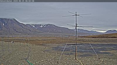 Vue actuelle ou dernière à partir de Adventdalen › East: › North East: Svalbard