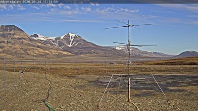 Vue webcam de jour à partir de Adventdalen › East: › North East: Svalbard