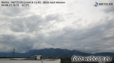 Vista actual o última desde Dürne: Röthis − METZLER GmbH & Co KG − Blick nach Westen