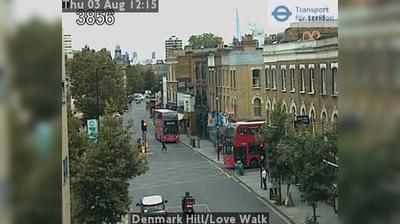 Daylight webcam view from South East London: Denmark Hill/Love Walk