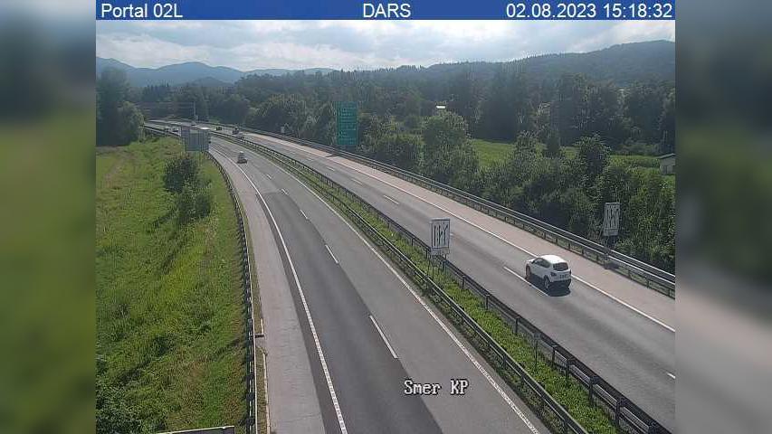 Webcam Dravlje: H3 − severna obvoznica, priključek Lj. −