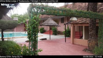 Vue webcam de jour à partir de Toubakouta: Africa Strike Lodge − Toubacouta