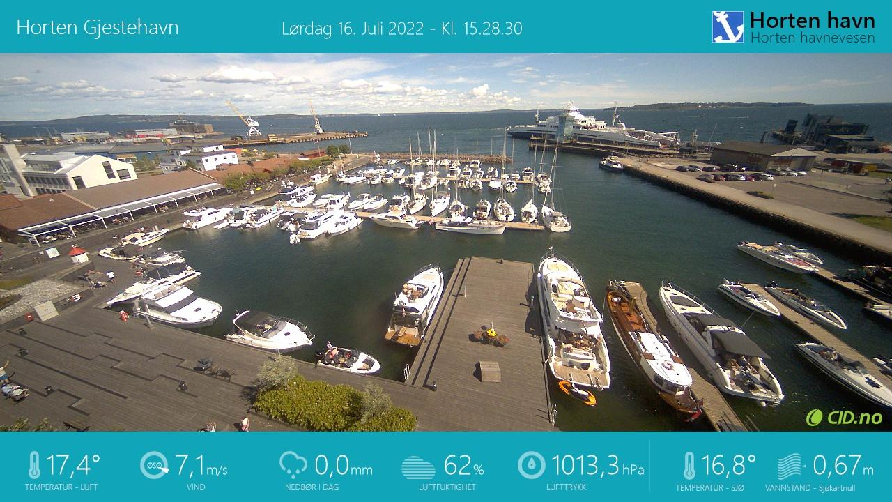 Webcam Horten: Horten Guest Harbour