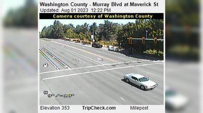 Daylight webcam view from Progress: Washington County − Murray Blvd at Maverick St