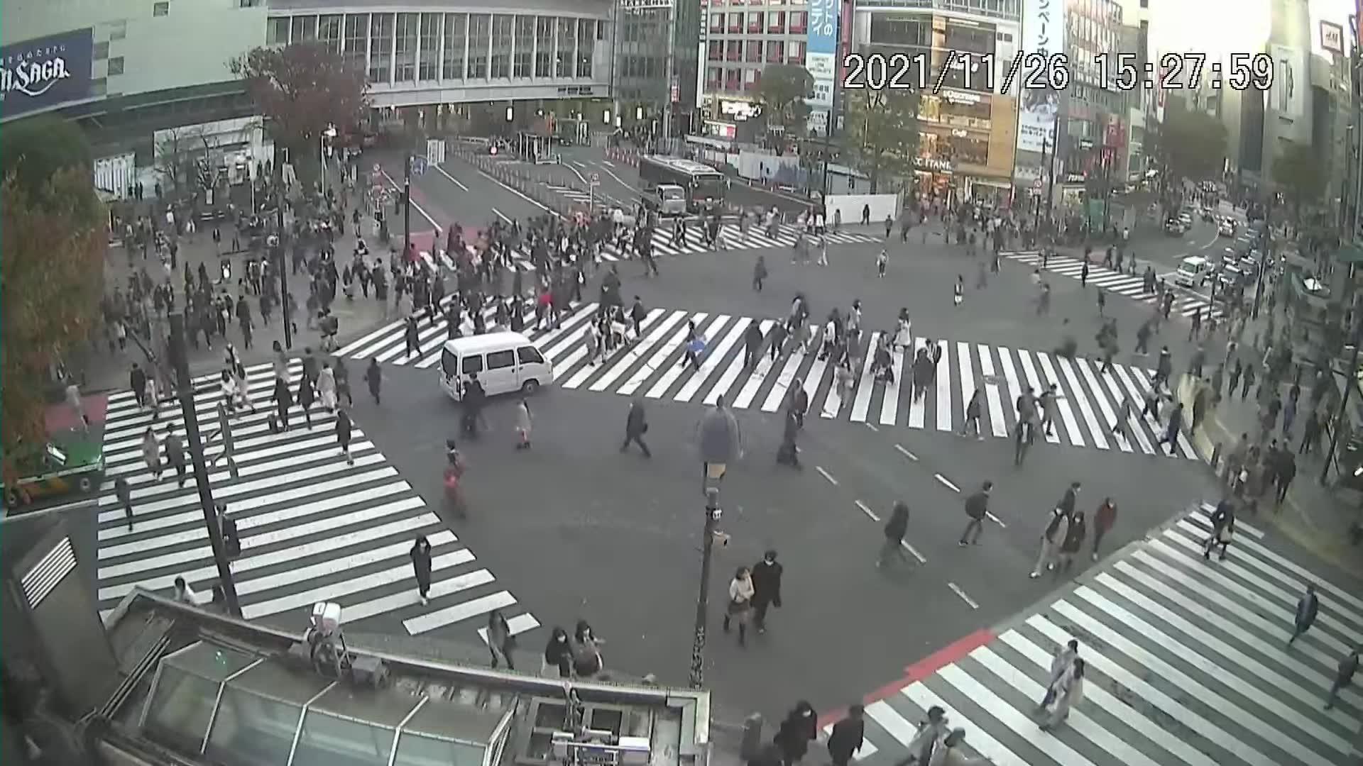 Webcam 宇田川町: 渋谷スクランブル交差点