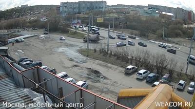 Иркутск - Иркутская область, Россия: Мебельный Центр «Москва», вид на Первомайский