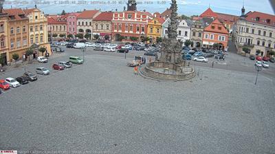 Vista de cámara web de luz diurna desde Chrudim: Resselovo náměstí