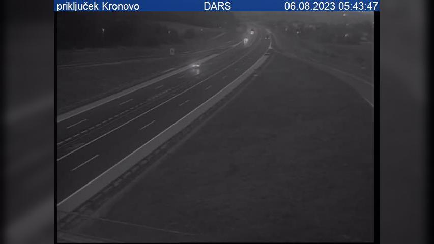 Webkamera Gorenje Kronovo: A2/E70, Novo mesto − Obrežje, pri