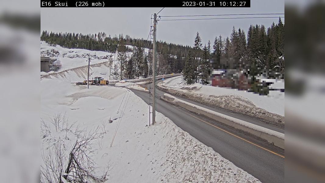 Webkamera Skui: E16 − Retning mot Hønefoss