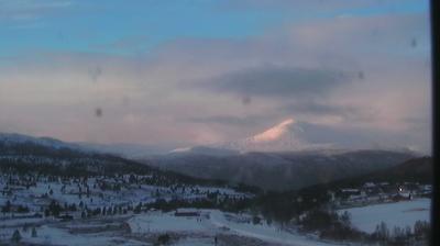 Daylight webcam view from Høvringen: Rondane Haukliseter Fjellhotell