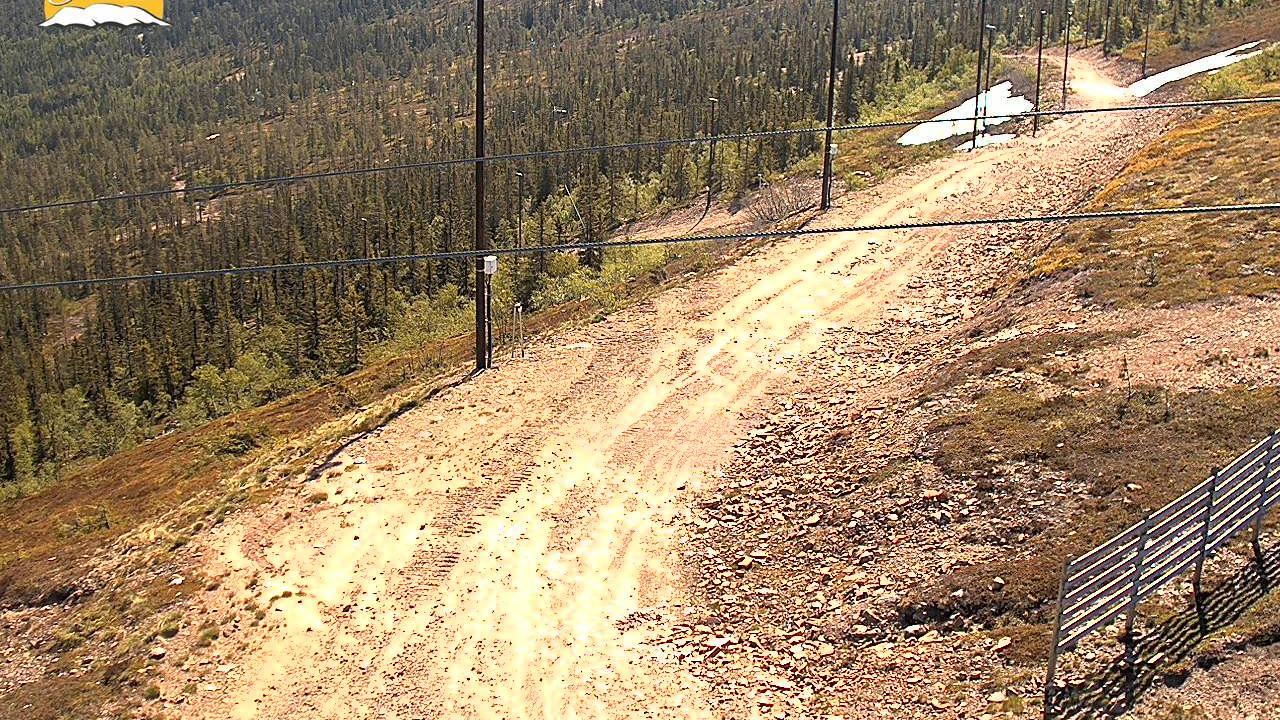 Webkamera Grundforsen: Stöten i Sälen, vy från toppen
