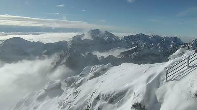 Vue webcam de jour à partir de Horný Smokovec: Lomnický Peak