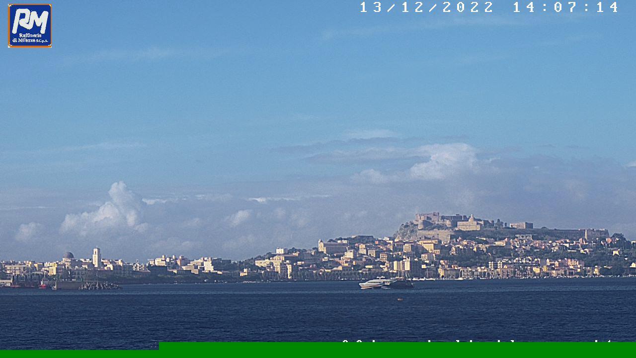 Webcam Milazzo: ME − Marina Garibaldi e Castello
