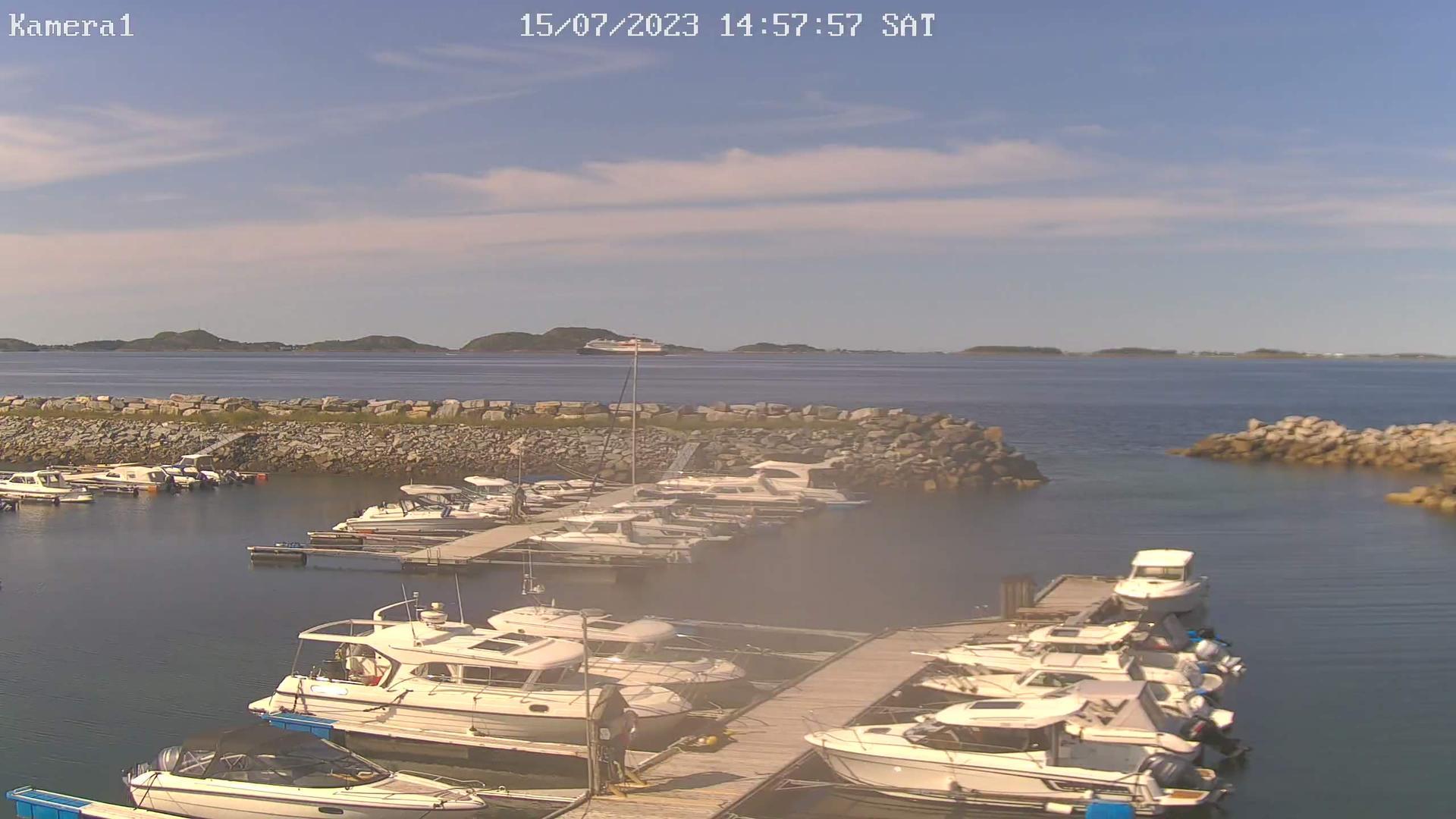 Webkamera Mølnbukt: Agdenes: Røysa Småbåthavn