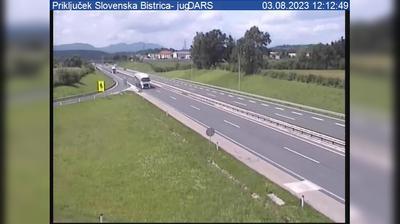 Tageslicht webcam ansicht von Slovenska Bistrica: A1/E57, Maribor − Ljubljana, priključek Sl. Bistrica − jug