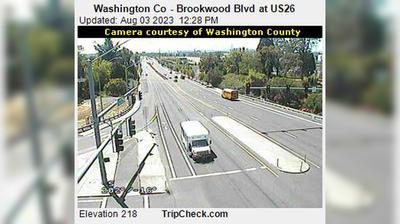 Vue webcam de jour à partir de West Union: Washington Co − Brookwood Blvd at US26
