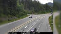 Whistler Resort Municipality > North: , Hwy , near Brew Creek Forest Service Rd, about  km southwest of Whistler, looking north - El día