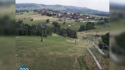 Daylight webcam view from Ząb: aktualny widok na stok narciarski Potoczki